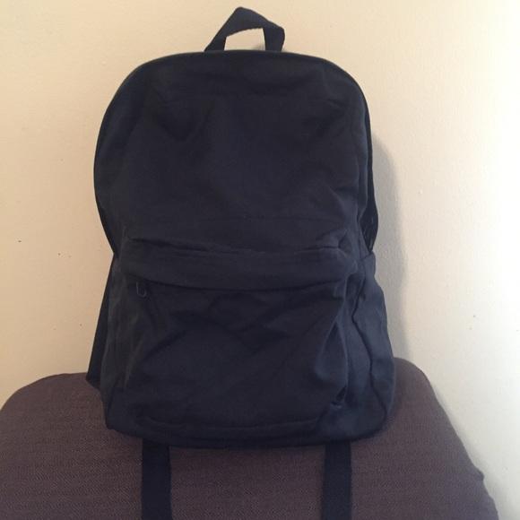American Apparel Handbags - American Apparel Black Canvas Backpack